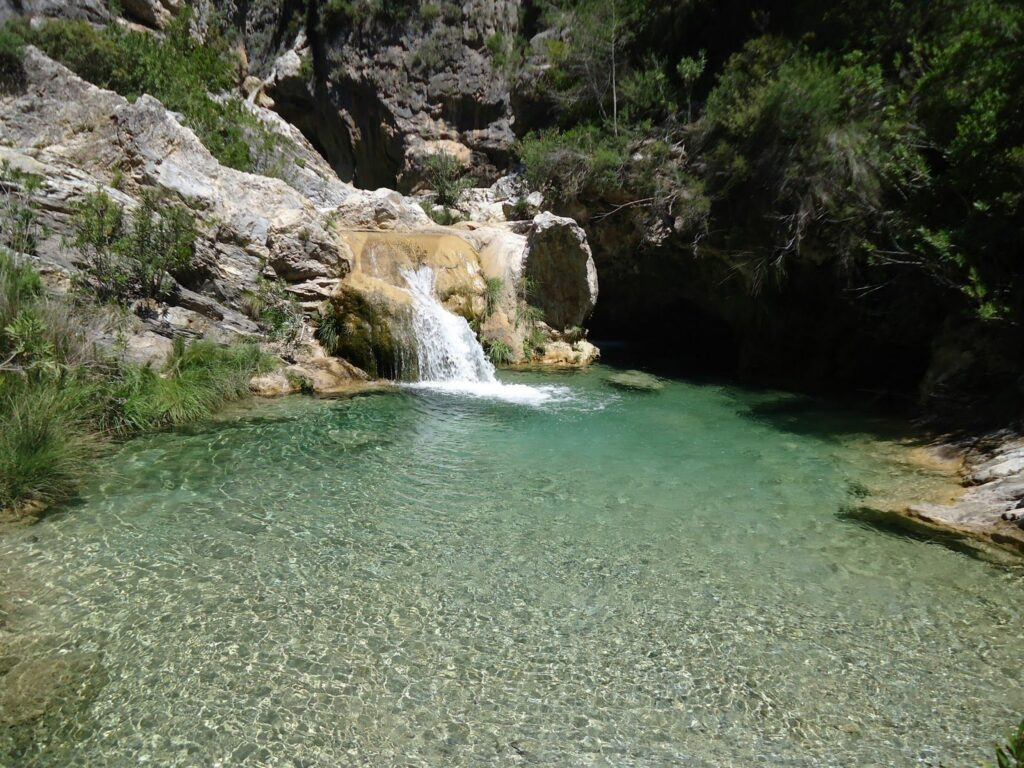 Descenso Río Verde agua turquesa